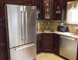 kitchenaid cabinet depth refrigerator attractive french door refrigerator in kitchen with kitchenaid