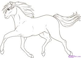 mustang horse drawing how to draw a mustang horse step by step