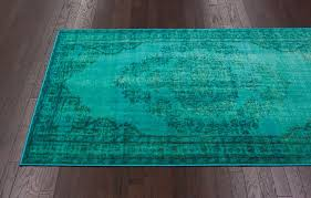Over Dyed Distressed Rugs Chroma Overdyed Rug In Turquoise Rosenberryrooms Com