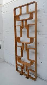 pine timber wooden room divider bookcase display unit den ideas
