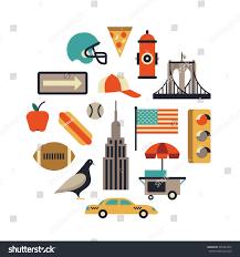 New York how does light travel images New york city vector flat illustration stock vector 599484455 jpg