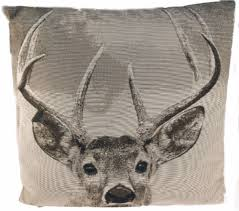 home interior deer picture set of 3 luxury 45cm reindeer stag deer cushions home interior gift