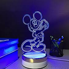 3d Lamps Amazon 3d Mickey Mouse Led Night Light Touch Table Desk Lamp For Kids