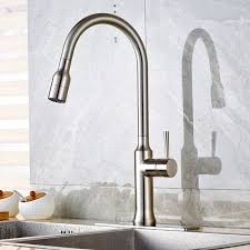 Satin Nickel Kitchen Faucet Wholesale And Retail Brushed Nickel Kitchen Sink Faucet Pull Out