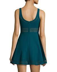 elizabeth and james kenton sleeveless mini dress prussian blue