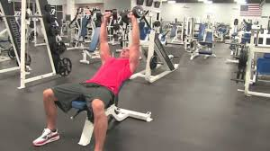 dumbbell incline tate press youtube