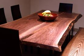 Walnut Live Edge Table by Live Edge Black Walnut Harvest Table Contemporary Dining Room