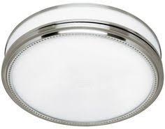 brushed nickel bathroom vent fan light combination combo exhaust