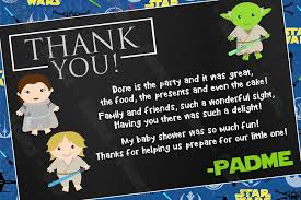 wars thank you cards novel concept designs a new jedi wars baby shower