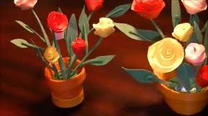 bouquet en papier miniature quilling rose pot in 3d with no tools youtube