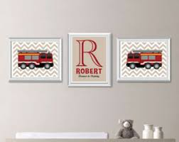 Firefighter Nursery Decor Truck Decor Etsy