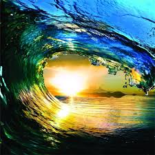 beautiful water wave outdoor scene ocean sun picture art mural beautiful water wave outdoor scene ocean sun picture art mural vinyl wall best selling cling transfer decal peel stick sticker graphic design color 763