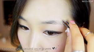 How To Arch Eyebrows Meejmuse Pictorial Korean Brows In 4 Steps Grooming Shaping