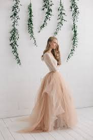 Champagne Wedding Dresses Wedding Dress Champagne Tulle Dress Blush Ivory Wedding