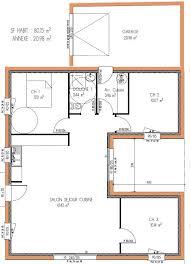 plan de maison plein pied gratuit 3 chambres plan maison 80m2 2 chambres maison ossature bois projet 09
