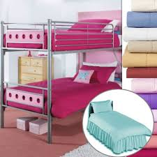 Bunk Bed  Size Valance Fitted Sheet  Standard Quality - Fitted sheets for bunk beds