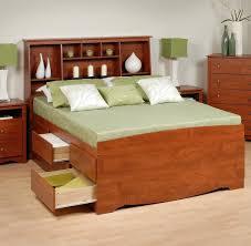 Box Bed Designs In Wood Prepac Tall Captain U0027s Platform Storage Bed W Bookcase Headboard