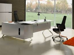 Glass L Desk by Chiarezza Executive L Shaped Desk With White Frost Glass Or Wood
