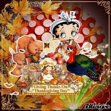 happy thanksgiving with betty boop picture 102149389 blingee