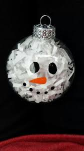 snowman ornament glass white shred glass paint idea