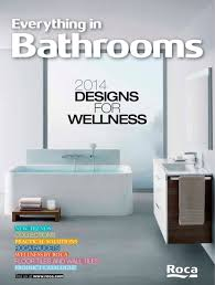 new trends in bathroom design everything in bathrooms 2014 roca pdf catalogues
