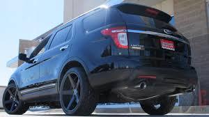 Ford Explorer Upgrades - kmc district wheels in matte black on a 2014 ford explorer sport