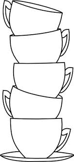Tea Cup Clipart Coloring Page Pencil And In Color Tea Cup Cup Coloring Page