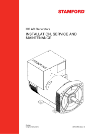 installation service and maintenance generator by stamford