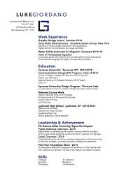 Resume For Lifeguard Contact U2014 Luke Giordano