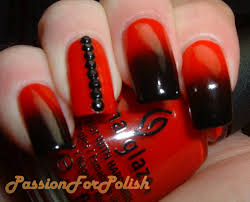 nail art red and black nail art on nails phenomenal image
