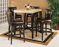 granite top round pub table kitchen dining pub dining set for small space dining area