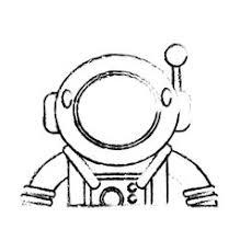 astronaut space cartoon design royalty free vector image