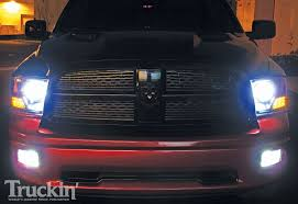 2015 dodge ram 1500 tail light bulb replacement 2009 dodge ram upgrades anzo halo projector headlights truckin