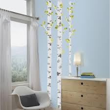 roommates 5 in x 19 in birch trees peel and stick giant wall