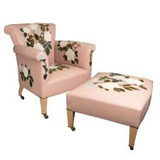 Pink Armchair Powder Pink Armchair With Rose Susannah Hunter