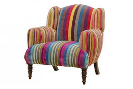 Large Armchair Fandango Multi Stripe Velvet Armchair Absolute Home
