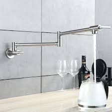 wall faucets kitchen contemporary pot filler soft4it com