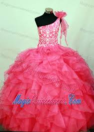 glitz pageant dresses hot pink one shoulder glitz pageant dresses with embroidery and