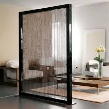 fascinating glass room dividers ideas with sleek black frames in