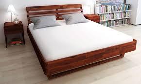 letti e comodini letto e comodini in legno di acacia groupon goods