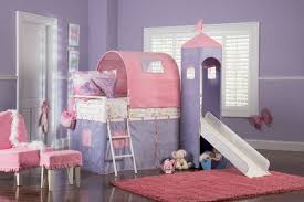 bedroom magnificent castle twin size tent bunk bed with slide