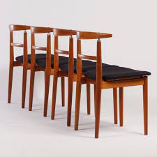 Set Of Four Dining Chairs Vintage Set Of Four Dining Chairs By Helge Sibast For Sibast