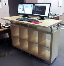 Standing Height Desk Ikea 20 Top Diy Computer Desk Plans That Really Work For Your Home