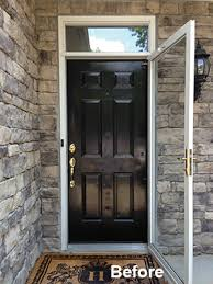 Exterior Door Pictures Replacing Front Entry Door Stylish And Transom Window Replacement