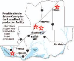 solano county map solano county cities use to woo lucasfilm studio project