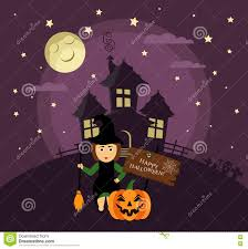 halloween haunted house flyer background poster banner or background for halloween party night with