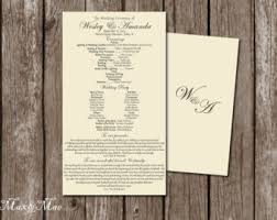 scroll wedding programs scroll wedding programs etsy