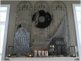 cemetery halloween mantel made in a day