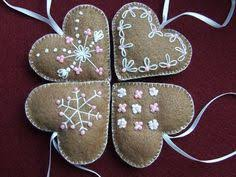White Heart Christmas Decorations by Felt Christmas Ornament Handmade Felt Heart Ornament Blue And