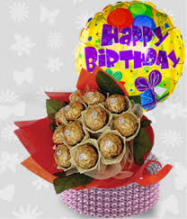 delivery birthday gifts bouquet with happy b day balloon